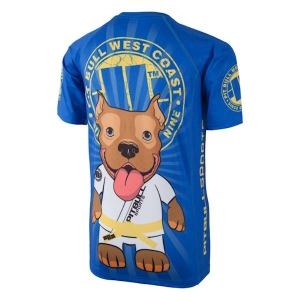 T-shirt Rashguard KIDS LITTLE Pit Bull BLUE