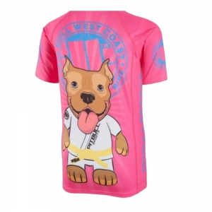T-shirt Rashguard Kids Little Pit Bull Pink