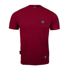 T-shirt Octagon Stripe Burgundy