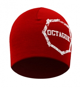 Czapka zimowa Octagon Large Logo Smash Red